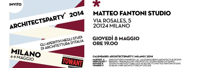 Matteo Fantoni News - ARCHITECTSPARTY 2014