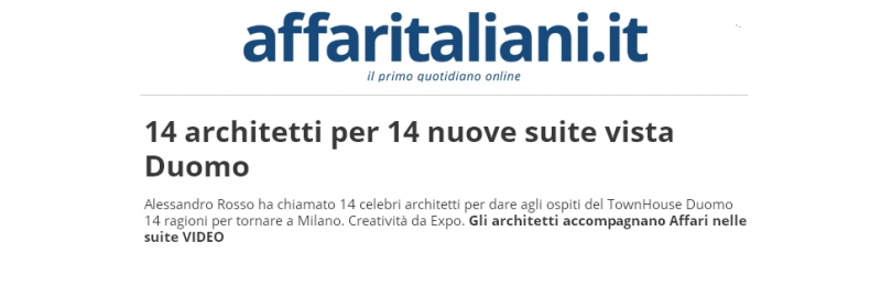 Matteo Fantoni News - AFFARI ITALIANI, PREVIEW SUITE 302 BY MF