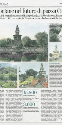 Alberi e fontane nel futuro di Piazza Castello