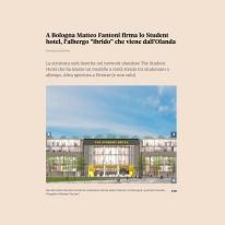 A Bologna Matteo Fantoni firma lo Student Hotel