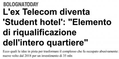 L ex-Telecom diventa student hotel: Elemento di riqualificazione dell intero quartiere