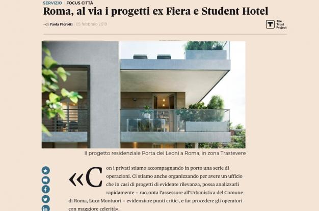 Roma al via i progetti ex Fiera e Student Hotel