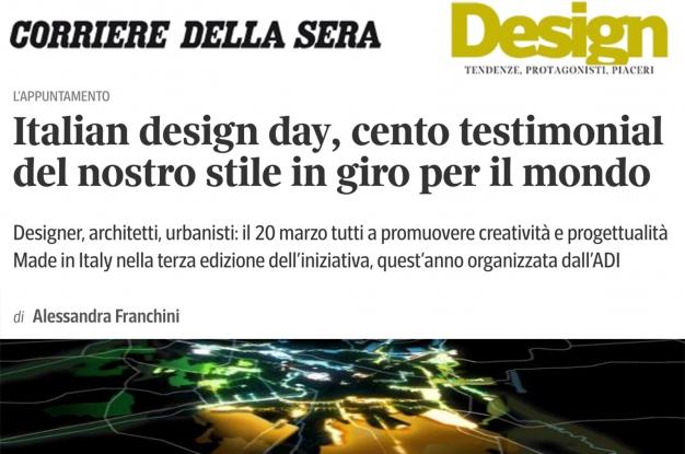 Italian design day, cento testimonial del nostro stile in giro per il mondo