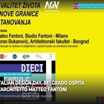 CULTURA ITALIANA E DIPLOMAZIAITALIAN DESIGN DAY, BELGRADO OSPITA L'ARCHITETTO MATTEO FANTONI