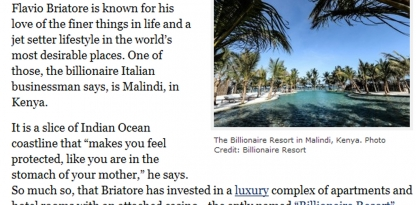 Monte Carlo In Malindi: A Billionaire's Bet On Kenyan Luxury