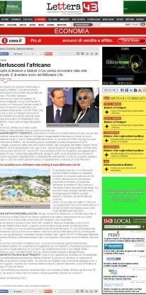 Berlusconi l' africano